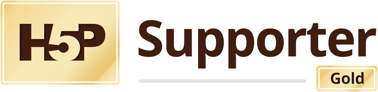 H5P Gold supporter logo (color)