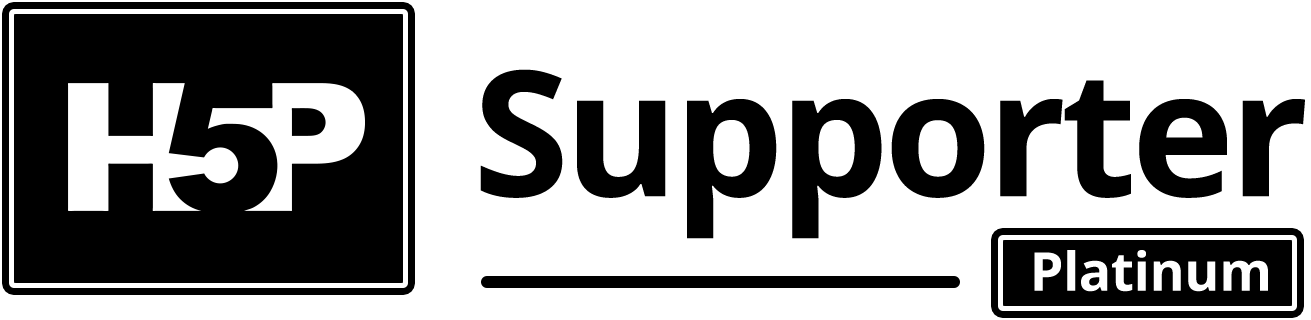 H5P platinum supporter logo (black and white)